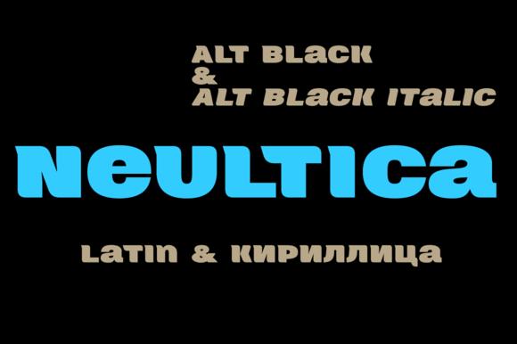 Neultica 4F Alt Black Italic