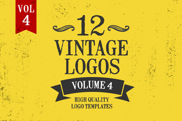 Vintage Logo Design Templates Vol 4