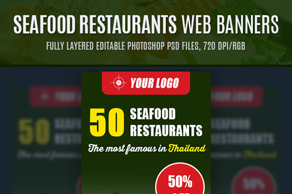 Seafood Restaurants Web Banners