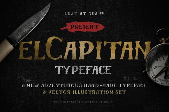 El Capitan Handdrawn Font Bonus