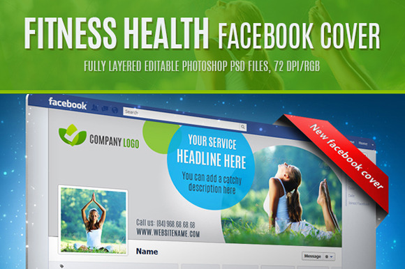 Fitness Health Facebook Cover