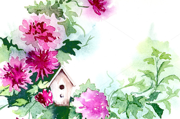 Watercolor Clipart Flowers