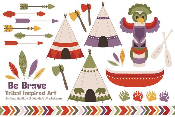 Autumn Tribal Clipart Vectors