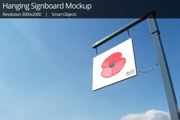 Hanging Signboards Mockups