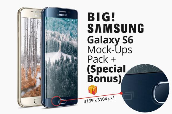 Big Galaxy S6 Mock-ups Pack