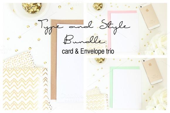 Card Invitation Styled Stock Photo