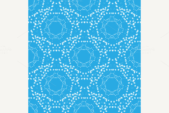 Repeating Circles With Stars Pattern