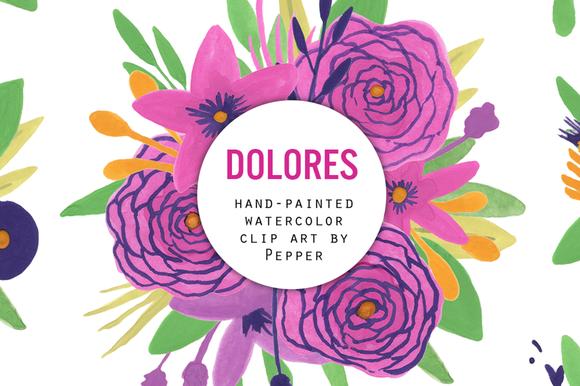Purple Watercolor Clip Art