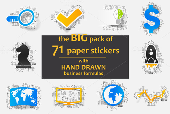 PAPER STICKER With Business Formulas