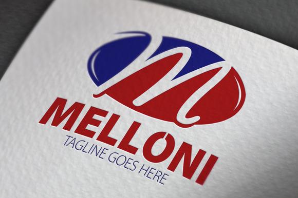Melloni M Letter Logo