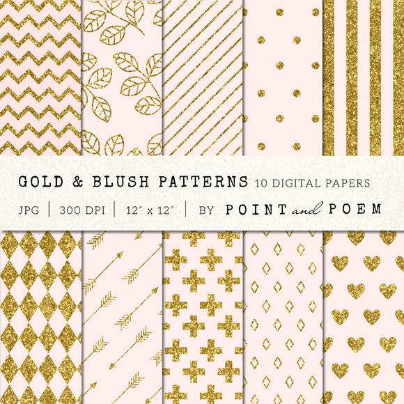 Gold Glitter Pink Patterns