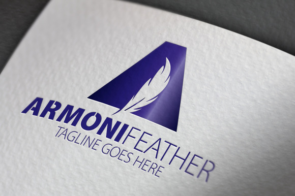 Armoni Feather A Letter Logo