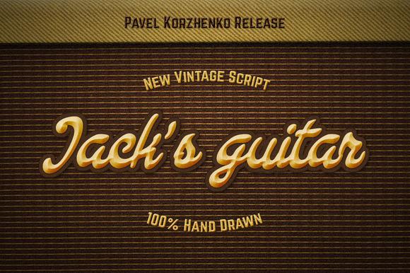 Jack S Guitar Handwritten Script