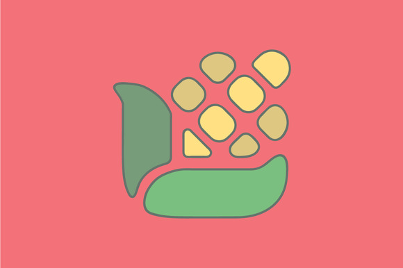 Illustration Of Corn Flat Icon