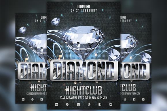 Diamond Club Flyer Template