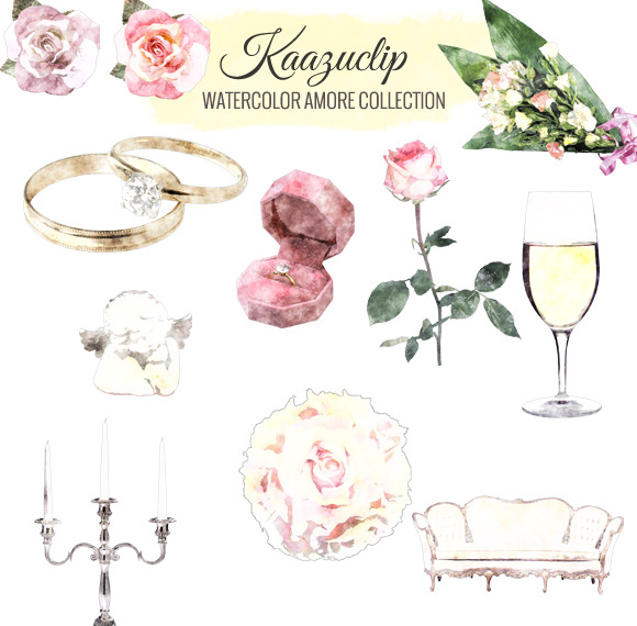 Watercolor Amore Collection