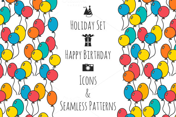 Holiday Set Happy Birthday