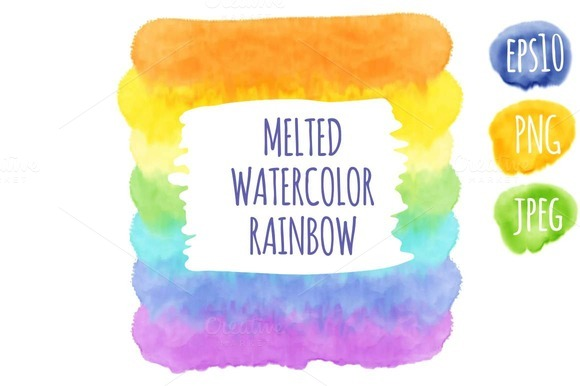 Melted Watercolor Rainbow