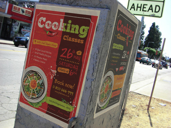 4 Cooking Posters Flyers A4 Temp