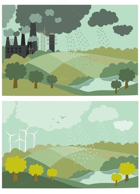 Ecology Concept Vector Illustration