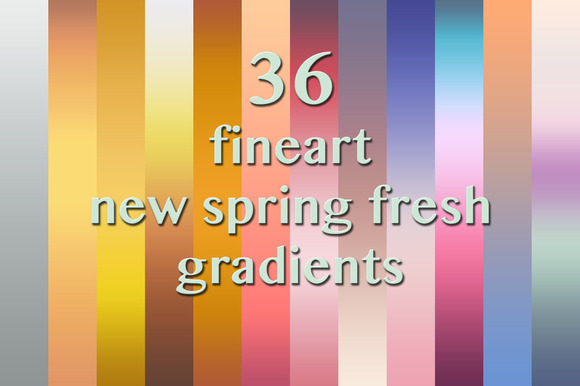 36 Spring Fresh Fineart Gradients