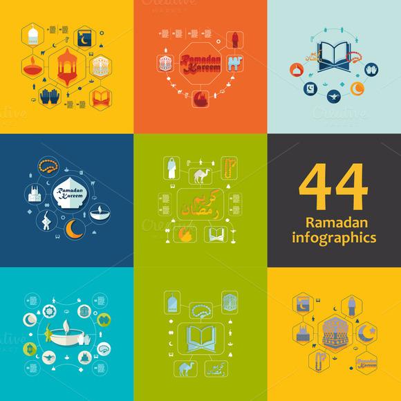44 RAMADAN FLAT Infographics