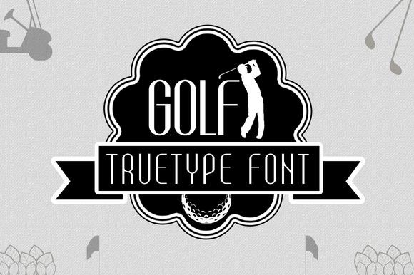 Golf TrueType Font