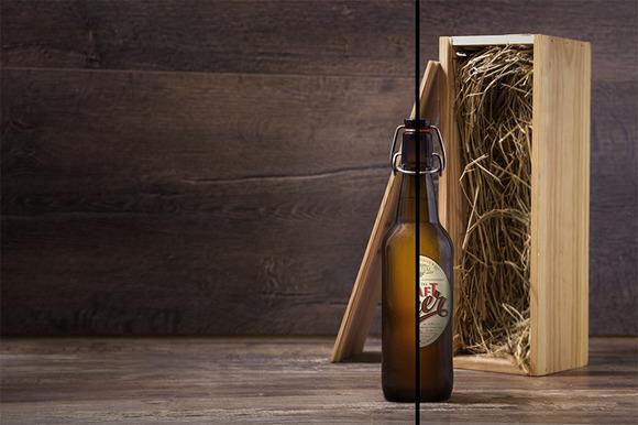 Craft Beer Bottle Mock-up