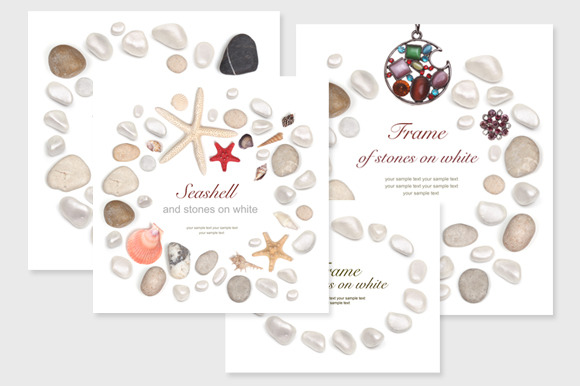 4 Frame Of Stones And Seashell