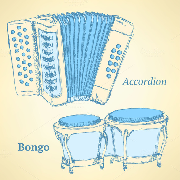 Sketch Bongos And Accordion