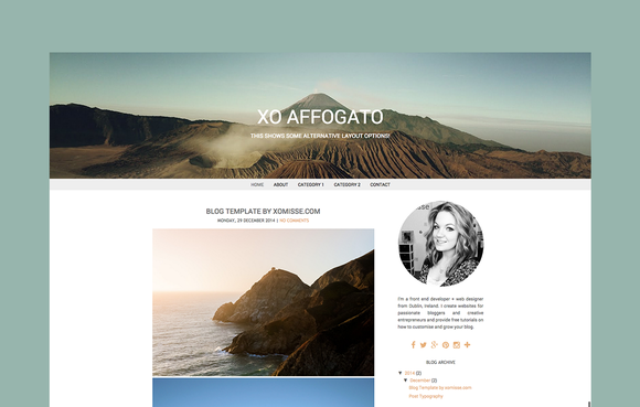 BLOGGER TEMPLATE XO AFFOGATO
