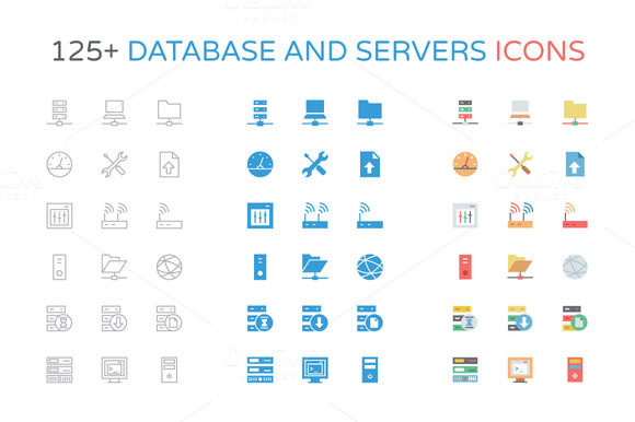 125 Database And Server Icons