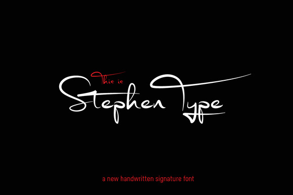 Signature Font Stephen Type Logo