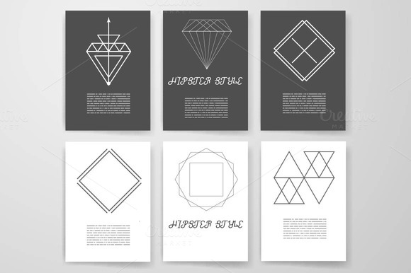 Set Hipster Geometric Elements