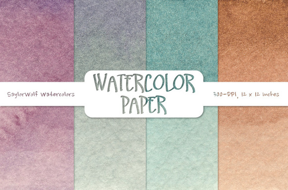 Dusky Watercolor Scrapbook Paper