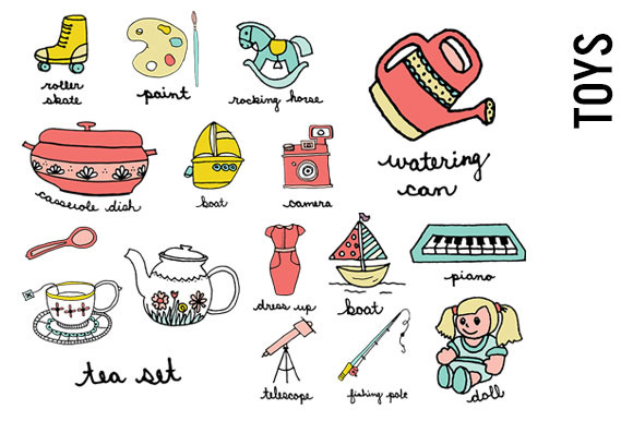Pink Toys Doodle Clip Art
