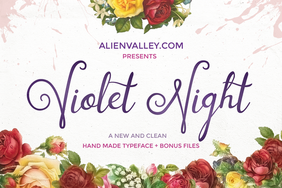 Violet Night Typeface