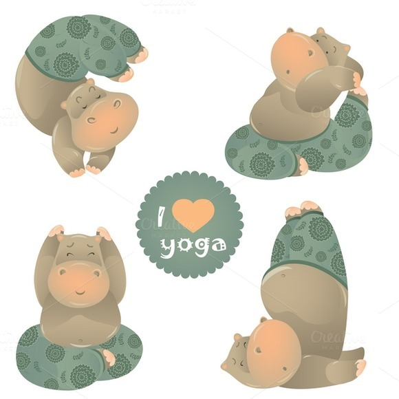 Animal Illustration Of Yoga Pose