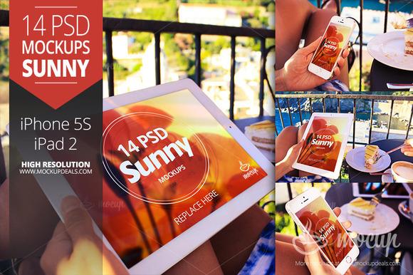 14 PSD Mockups Sunny In Italy
