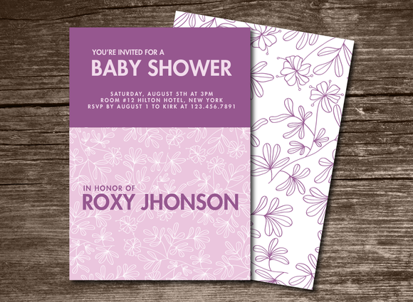 Baby Shower Invitation Leaves