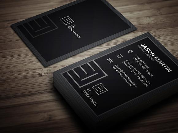 Dark Individual Business Card