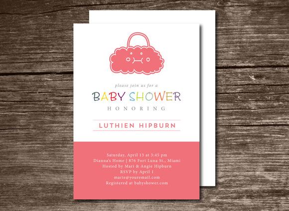 Baby Shower Invitation Bag