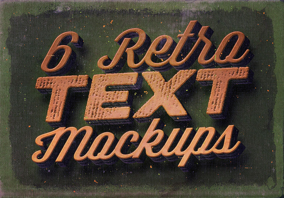 6 Retro Vintage Text Mock-ups