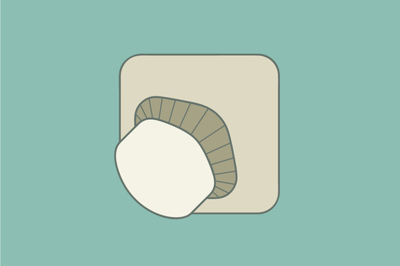 Stylized Illustration Mushroom Flat