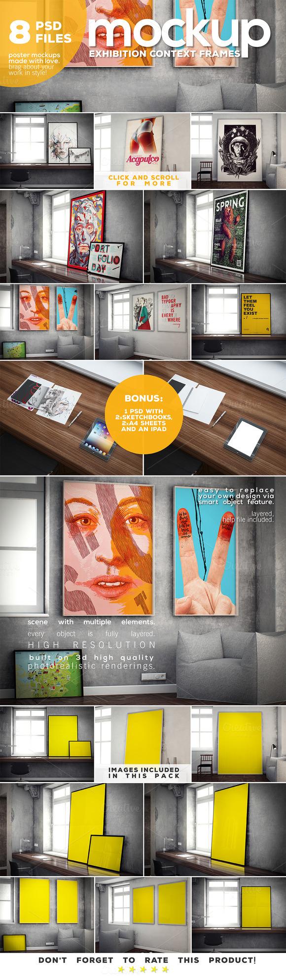 Poster Mockup Vol.3 Context Frames