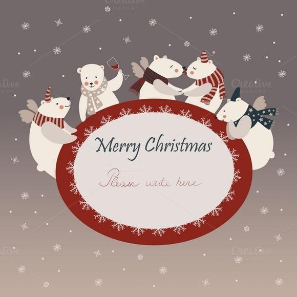 Polar Bears Celebrating Christmas
