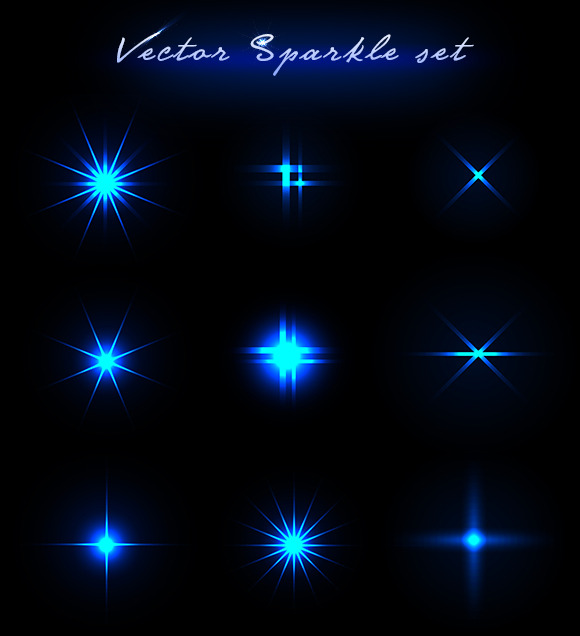 Vector Sparkle Set
