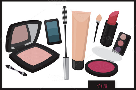 Makeup Products Vector Set