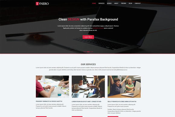 Synero One Page Multipurpose Theme