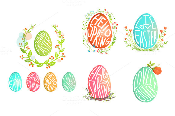 Single Easter Egg With Flowers Decor